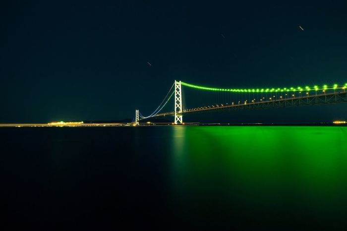 Bridge Akashi Strait Bridge Night Bridge Akashi Hyogo Japan Water Reflections Canon5Dmk3 Zeiss Distagon 2.8/15 ZE