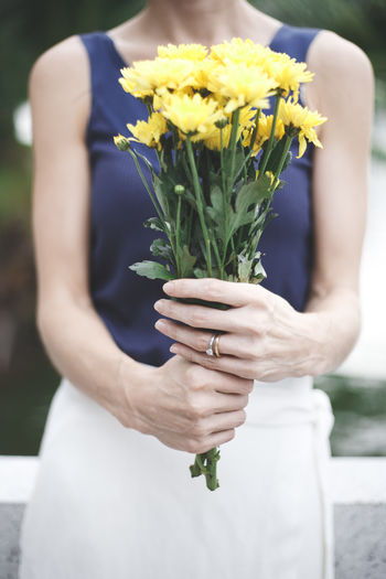 happy anniversary Anniversary Beauty In Nature Bouquet Bouquet Of Flowers Bunch Of Flowers Close-up Day Flower Flower Head Focus On Foreground Fragility Freshness Gift Growth Holding Nature Person Petal Springtime Wedding Photography Yellow Yellow Flowers