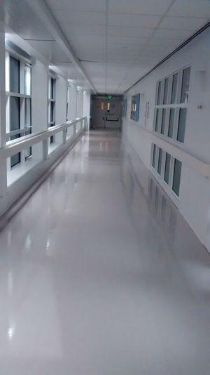 Long Hallway Hospital Hallway Hospital Door