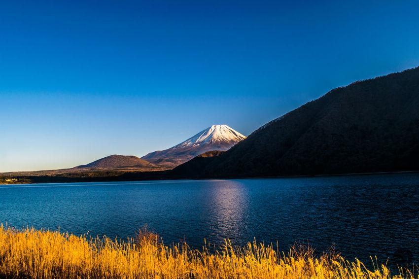 Beauty In Nature Fuji Lake Motosuko Motosulake Mountain Mountain Range Nature Water