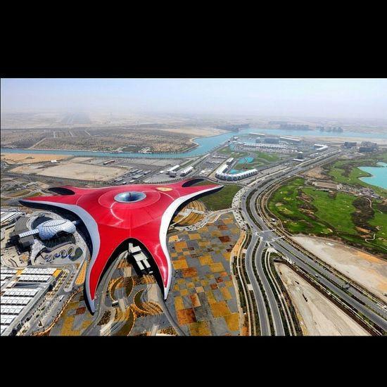 Ferrari World Abu Dhabi 😊😍❤👍 Amazing_captures Amazing Places To See Awesome_shots Beautiful City Best View My Best Photo 2015 EyeEm Best Shots Ferrari World Ferrari Pla