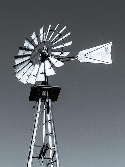 Old Windmill Rotational Energy Rotating Mill Vanes Energy Blades Old Sky Metal Windmill