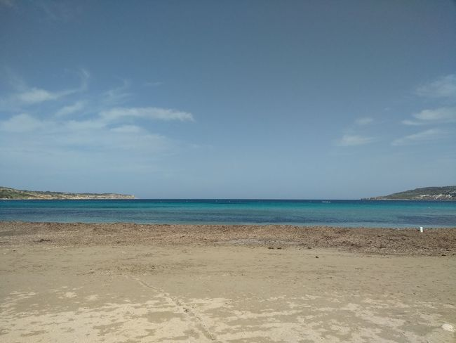 L-Ghadira Malta Mediterranean  Mediterranean Sea Beach Day Ghadira Nature No People Scenics Sea Sky Tranquility Water