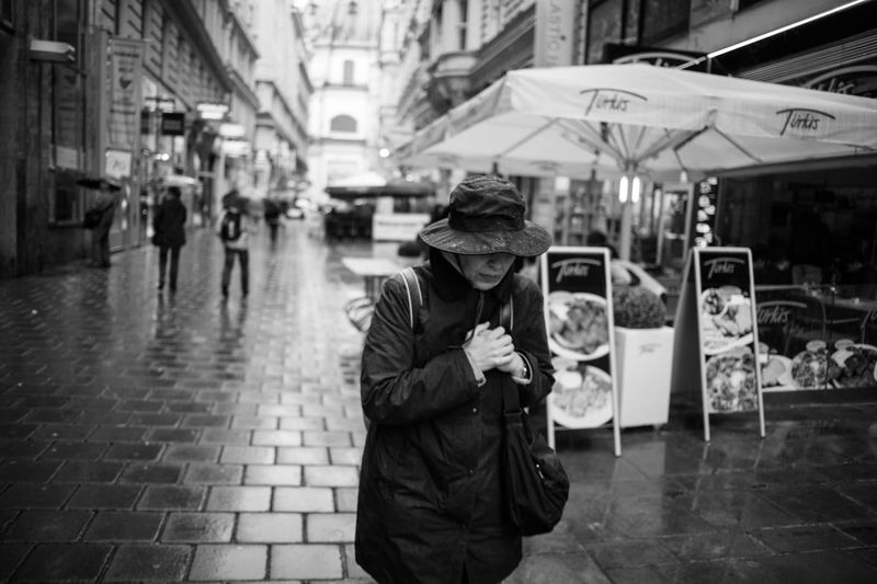 Woman in the rain City Life Covered Rain Rainy Day Real People Street Photography Urban Urban Photography Vienna Walking Women