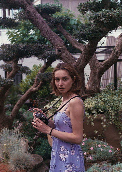35mm film Film Photography 35mm Film Portrait Camera Photographer Standing Young Women Tree Trunk Beautiful Woman Branch Mid Adult Sky This Is Natural Beauty 50 Ways Of Seeing: Gratitude The Modern Professional