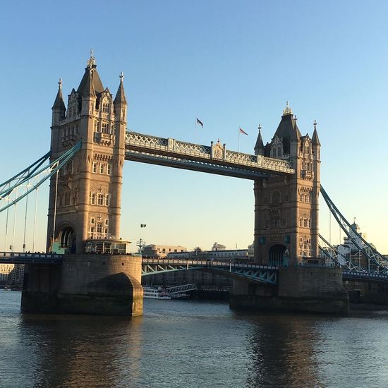 Bridge - Man Made Structure Travel Destinations River Tower Architecture Connection Built Structure Sky City Tourism Travel Outdoors No People Urban Skyline Day Cityscape Clock Tower Water Tower Bridge  Your Ticket To Europe