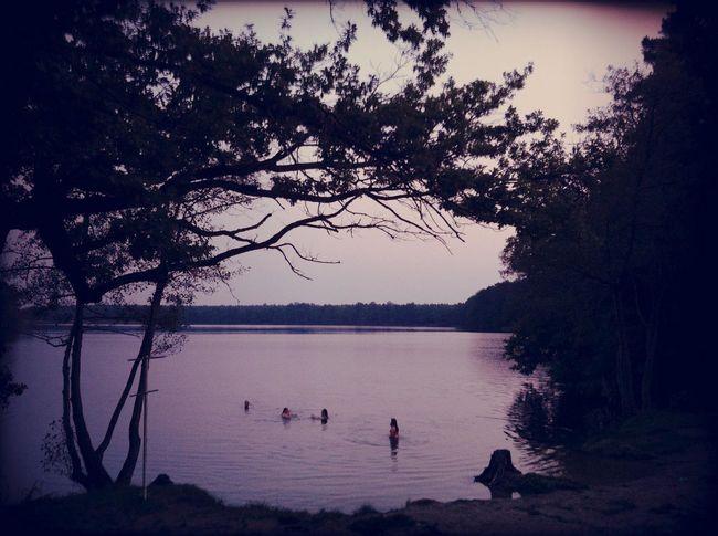 Swimming at Grabowsee Swimming