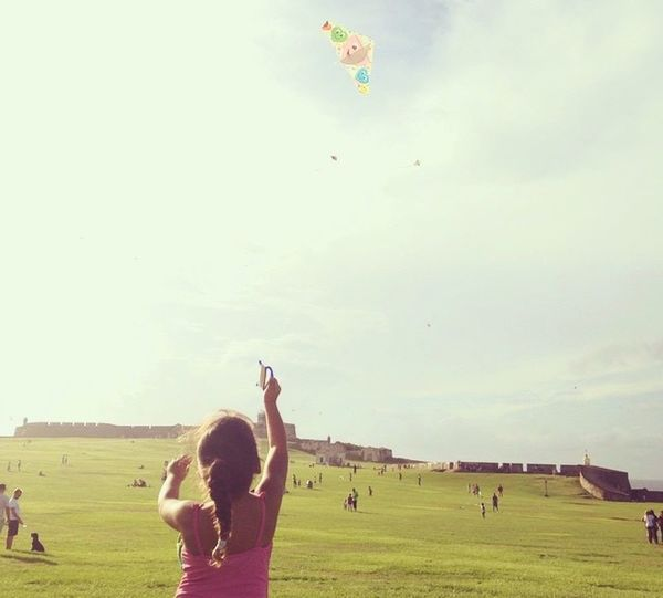 Summer Views CastilloSanFelipeElMorro Flying Kites Summer Puerto Rico