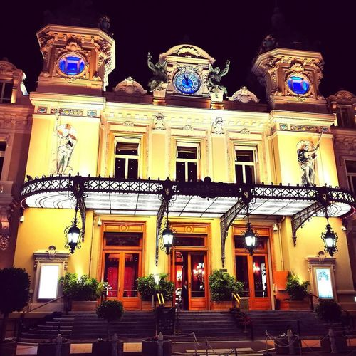 Architecture Building Exterior Travel Destinations City Night History Tranquility Cotedazur Casino Monte Carlo Money Money Money Montecarlocasino Amazing Architecture Love Luxurylifestyle