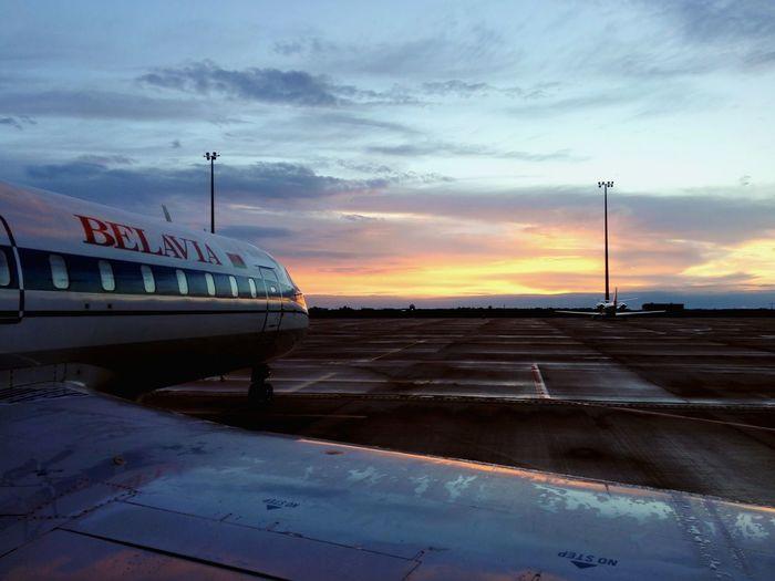 Outdoors No People Nature Dramatic Sky CRJ Crj200 Belavia Belavia Aircraft Wing Aircraft Cloud - Sky