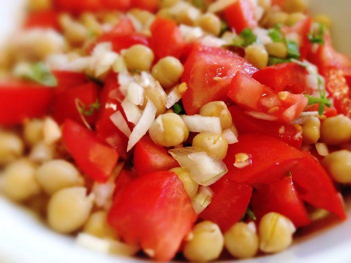 Chickpea Chick Peas Tomatoes Tomato Salad Chickpeas
