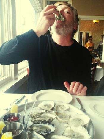 Dinner Oysters Enjoying Life