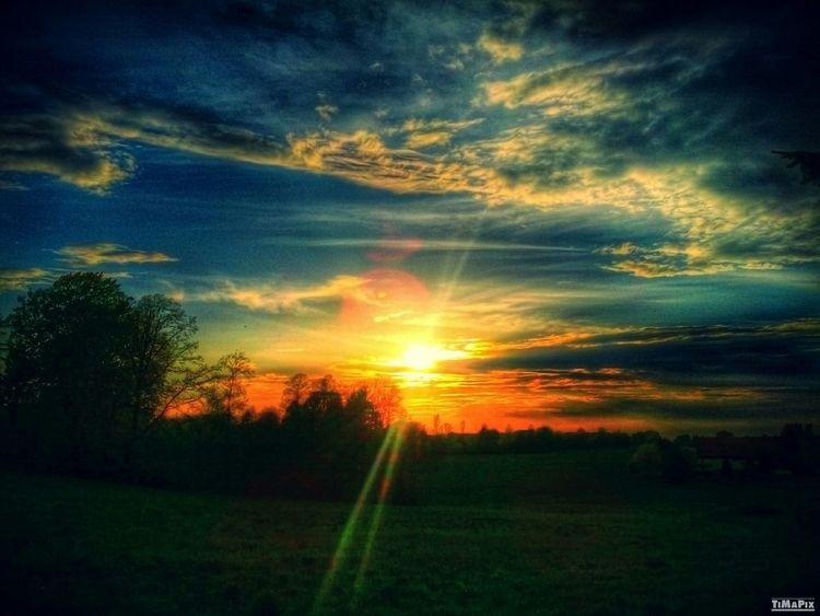 HDR Sunset Beautiful Saxony