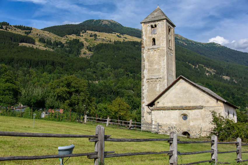 Church Malles Venosta - Mals Architecture Building Building Exterior Built Structure History Italy Mals Mountain Nature No People Outdoors Place Of Worship Plant Sky South Tyrol Vinschgau