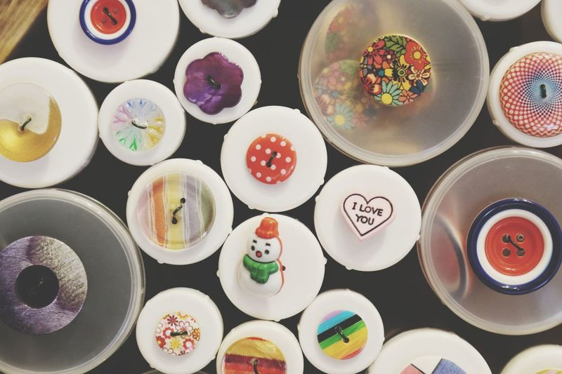 i love you buttons Multi Colored Directly Above Choice Large Group Of Objects Variation Indoors  No People Day Buttons And Buttons Buttons Iloveyou I Love You Plastic Clothing Haberdashery Sewing Stuff Sewing Colorful Colours Bits And Pieces Odds And Ends