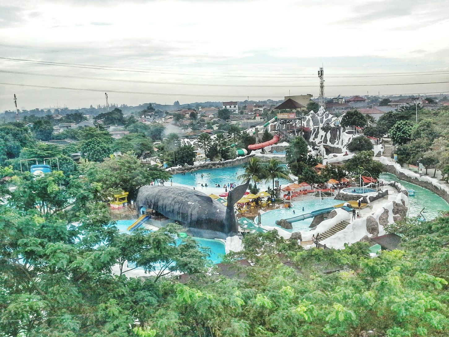 Snowbay view from kereta gantung Waterpark Tamanminijakarta Taman Mini Indonesia Indah Andrographer AndroidPhotography Snapseed
