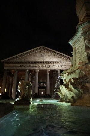 Agrippa Art Column Famous Place Fountain Historic History Human Representation Phanteon Religion Roma Sculpture Statue