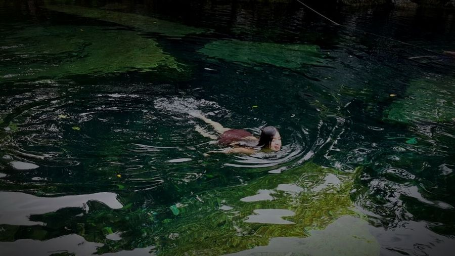 Lost In The Landscape Relaxed And So Comfy Real People Unique Moments Water Swimming High Angle View Outdoors Full Length Nature Beauty In Nature Nature Cenotes Marvel In Stones Marvel In Nature Ancient Ancient Marvel Unique Freshness Water Of Life EyeEmNewHere Second Acts Love Yourself Inner Power