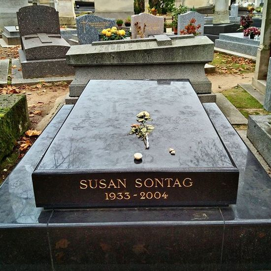Susan Sontag was born today in 1933. She lies here in Montparnasse cemetery of Paris HappyBirthday Susansontag Writer Montparnasse Cemetery Paris France