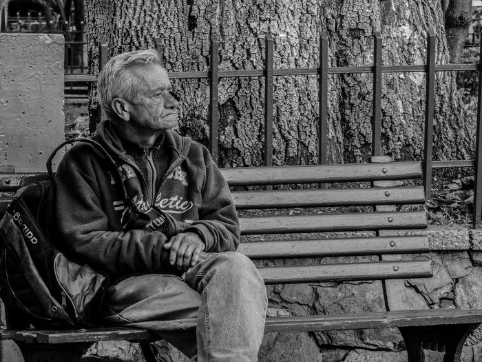 Sitting One Person Bench Senior Adult One Senior Man Only Adults Only Men One Man Only Adult Only Men Day People Outdoors Colombia ♥  Blackandwhitephotography Bogotá Colombia Blancoynegro Blackandwhite Granfather Vejez