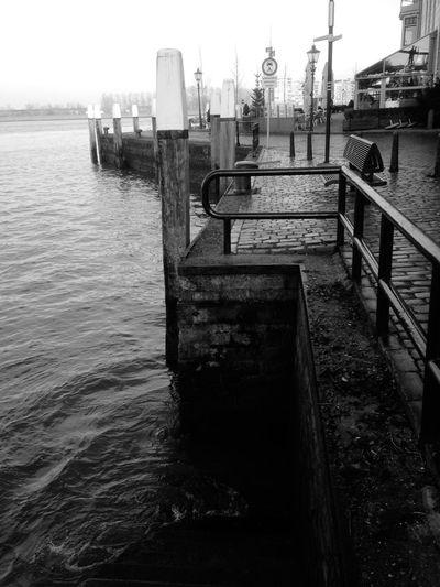 Water Reflections Blackandwhite Dordrecht