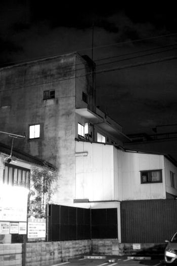 Japan Abandoned Architecture Building Building Exterior Built Structure City Cloud - Sky House Kyoto Low Angle View Nature Night No People Old Outdoors Reflection Residential District Sky Window
