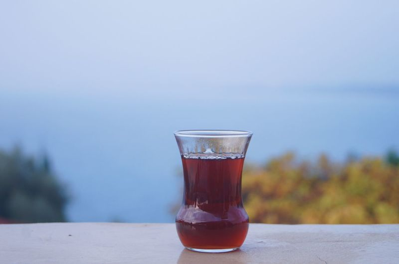 Turkey tea Refreshment Drink Table Food And Drink Drinking Glass Close-up Focus On Foreground Day Nature