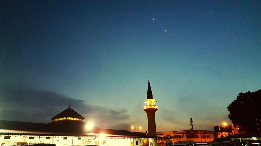 Maghrib @ Senawang Mosque MaghribPrayer Senawang Negerisembilan Malaysia Peace Astronomy City Star - Space Illuminated Galaxy Water Sky Architecture Building Exterior Built Structure
