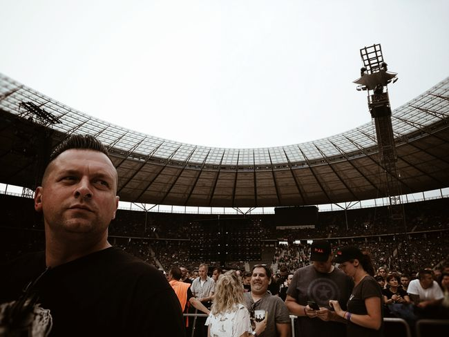 Waiting for the Legends Depeche Mode... Large Group Of People People Crowd Stadium Travel Destinations Adult Adults Only Day Outdoors Live Music Live Music Photography Live Gig Concert Music Is Life My Man Streetphotography Candid Candid Portraits Man Portrait Of A Man  Architecture Sommergefühle EyeEm Selects Breathing Space Berlin Love Discover Berlin Second Acts Be. Ready. Go Higher