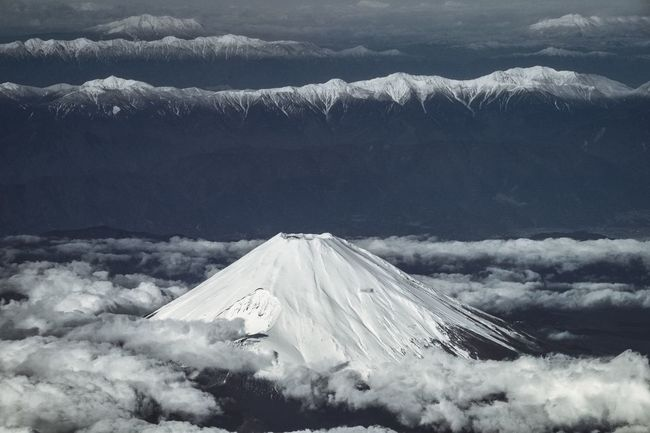 Mount Fuji, Japan Betterlandscapes Mountain Snow Snowcapped Mountain Beauty In Nature Scenics Nature Cold Temperature Mountain Range Winter Physical Geography Landscape High Up Vulcano Fujisan Fujiyama Japan Crater From An Airplane Window