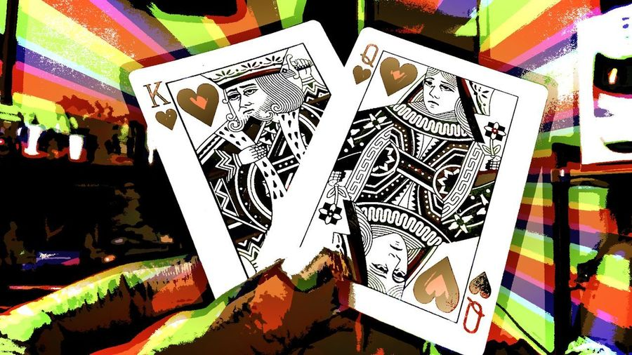 King And Queen.🎩👑 Card Art Creative Photography 😁😁