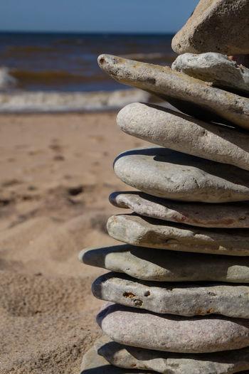 Stones Stones & Water Stones Outdoors Beach Beachphotography Beach Life EyeEm Nature Lover Eyem Gallery Nature Outdoor Photography Silence Sea Beach Sand Stack Sky Close-up