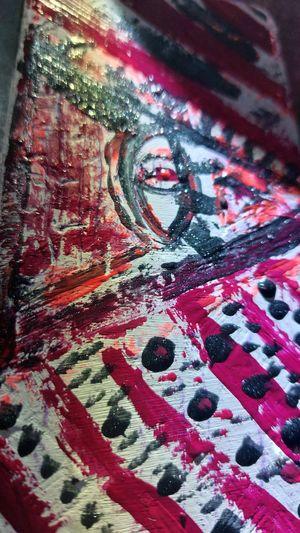 Detail shot of graffiti on wall