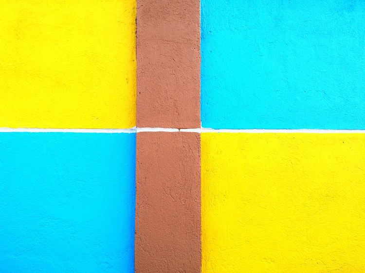 Color Wall. Wall Fence Colors Colorful Yellow Blue Brown Wall Art Wall Painting Eyeem Photography Eyeem Philippines Showcase: February The Week On EyeEm Fresh And Clean Wall Decor Wall Color Street Art Street Colors