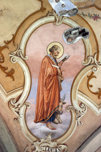 Saint Luke the Evangelist Altar Art Belief Christianity Church Croatia Evangelist Faith Figure Fresco Guardian History Holy Luke Old Patron Prayer Religion Religious  Saint Shrine Spirituality Worship