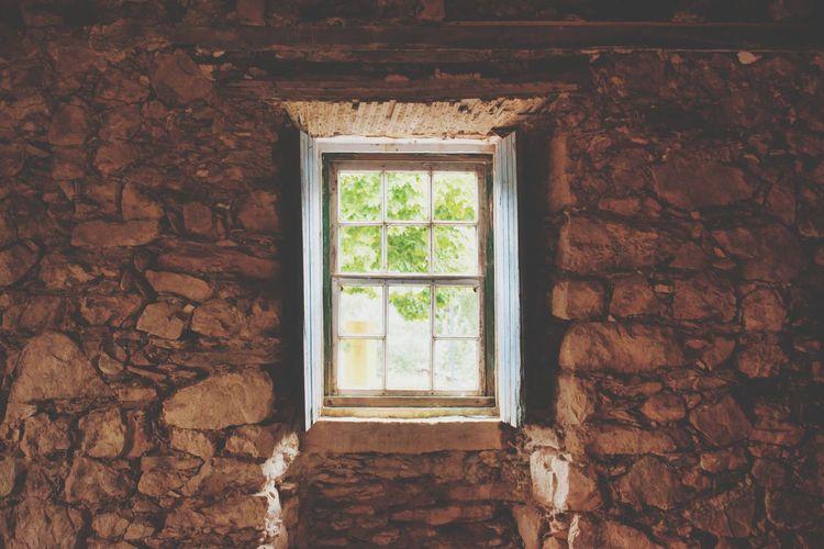 Open window of house