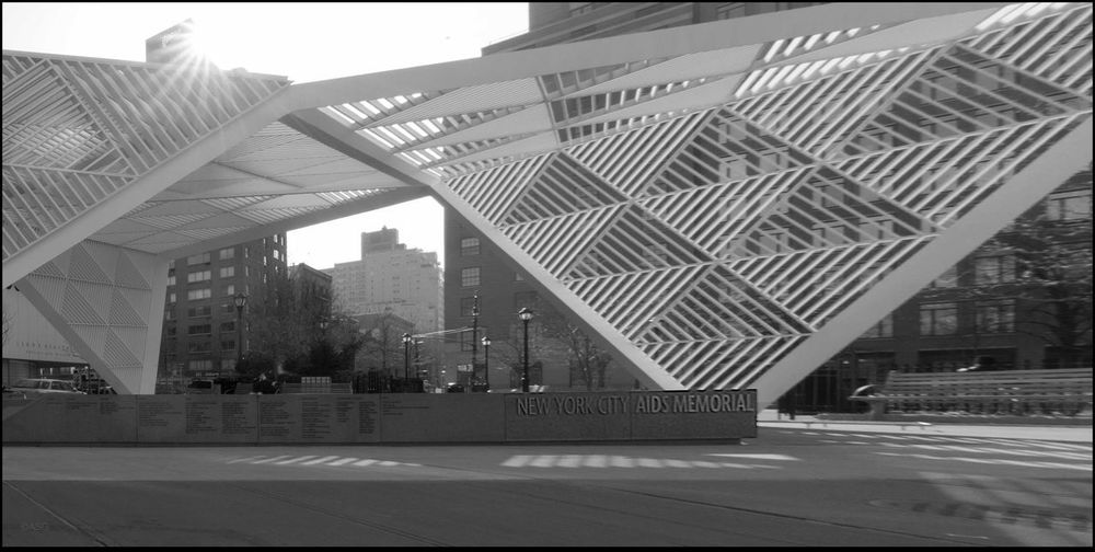N.Y.C. AIDS memorial today - 4/16/17 CanonpowershotG7X Converted To B&W Landmark Memorial Malephotographerofthemonth The Journey Is The Destination