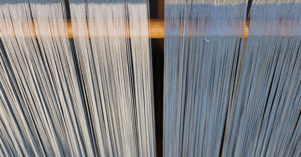 Full frame shot of threads in loom
