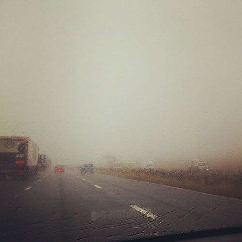 Driving into a cloud over the Pennines Fog Britishweather Troll Hunter adventure