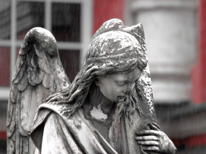 Weathered Statue Of Angel
