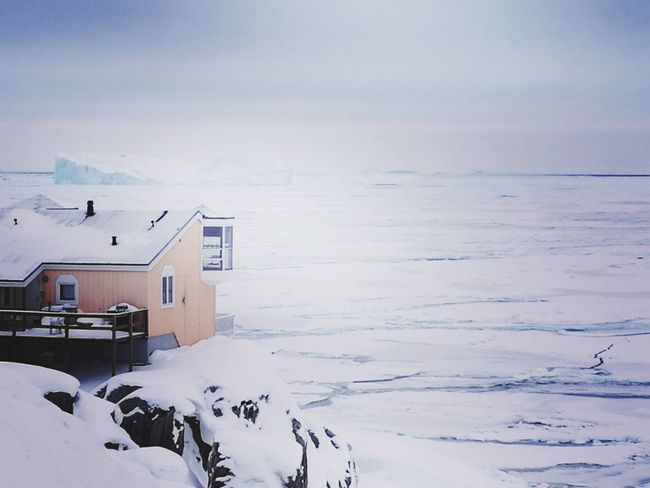 ice cold Ilulissat Icefjord Sea Ice Wiew Arctic Cold Temperature Winter Sea Iceberg