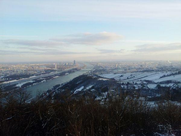 Winter Snow Vienna Danube