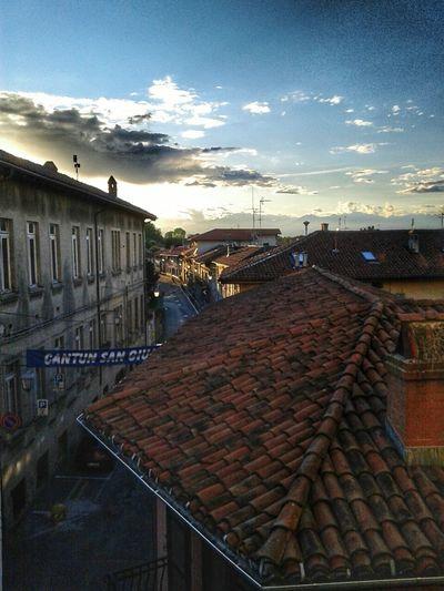 Saluggia vista dall'alto Sunset Sunset_collection Centrohistorico