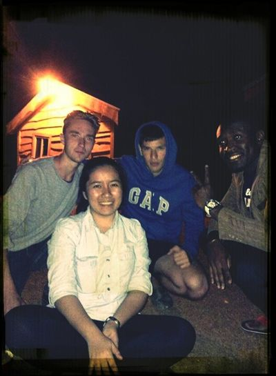 Bonfire night with my new Lithuanian friends Ovi, Ric & Chris! Frontdeskfriends 2ndshifters Nightpeople Newfriends
