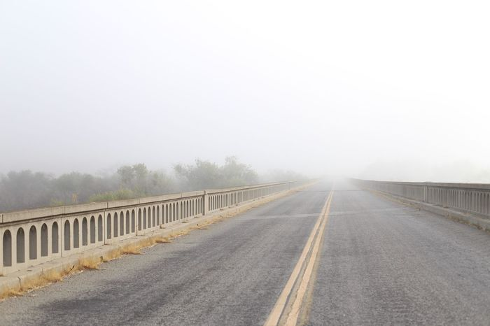 Transportation Foggy Bridge - Man Made Structure Bridge California Travel Photography Canon6d 50mm
