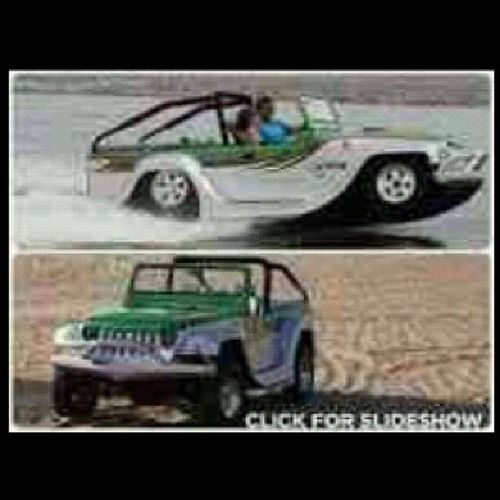 This WaterJeep would be so awesome to have!!