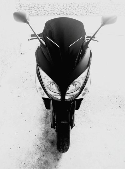 Yamaha Tmax Blackandwhite