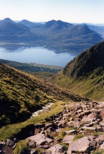 Beauty In Nature Day Film Photography Landscape Mountain Mountain Range Munro Bagging Nature No People Outdoors Scenics Sky Torridon Mountains Tranquil Scene Tranquility