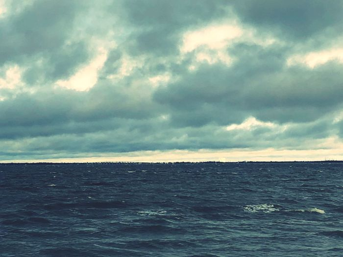 Dichotomy Sea Horizon Over Water Sky Nature Tranquility Water Scenics Cloud - Sky Beauty In Nature Tranquil Scene Idyllic No People Waterfront Rippled Outdoors Day