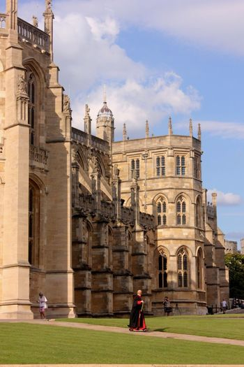 windsor castle Architecture Belief Building Building Exterior Built Structure Cloud - Sky Day Grass History Incidental People Nature Outdoors Place Of Worship Religion Sky Spirituality The Past Travel Travel Destinations Windsor Castle